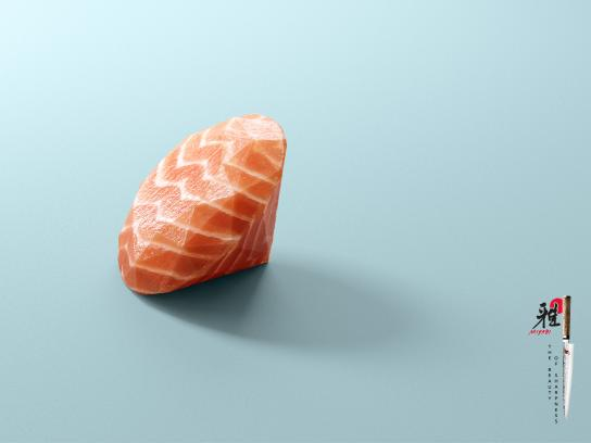 Miyabi Print Ad - The Beauty Of Sharpness 2018 - Salmon
