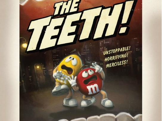 M&M's Outdoor Ad -  The teeth!