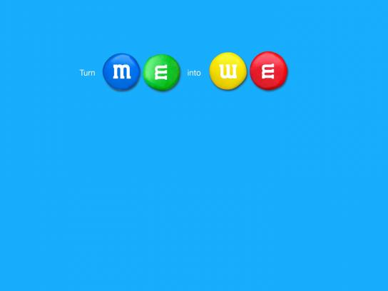 M&M's Print Ad -  Me+We