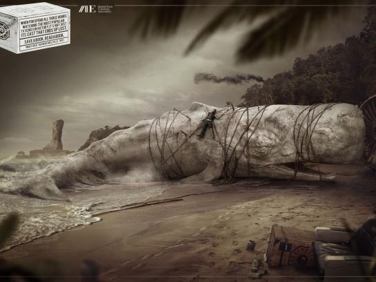Asociación De Editores De Madrid Print Ad -  Moby Dick