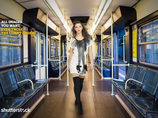 Shutterstock Print Ad -  Model, Fashion, Popular