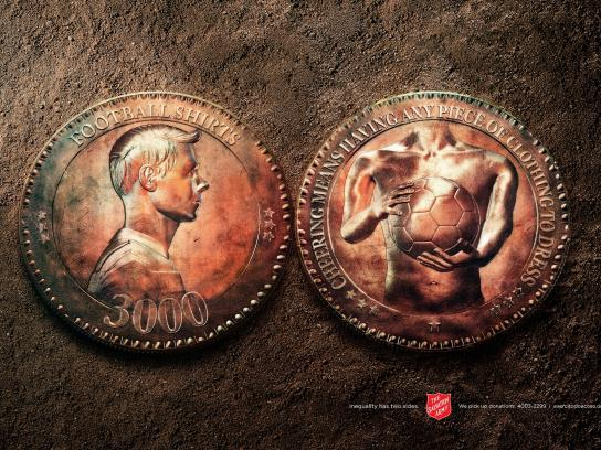 Salvation Army Print Ad -  Coin, 1