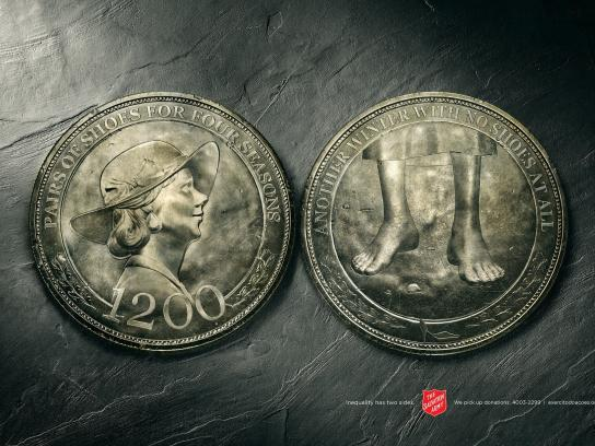 Salvation Army Print Ad -  Coin, 2