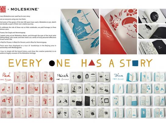 Moleskine Ambient Ad -  Every one has a story