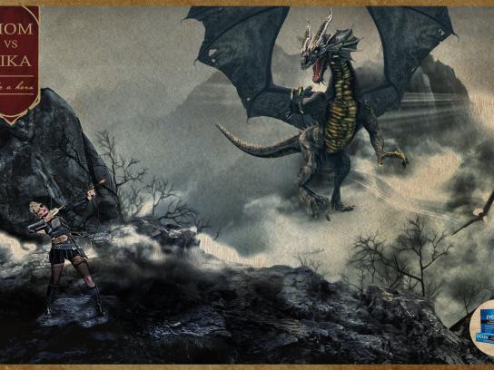 Zycazin Print Ad - Dragon