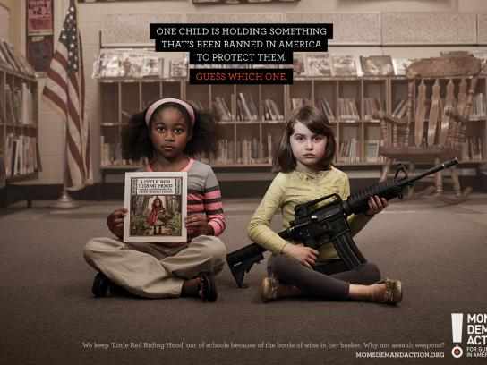 Moms Demand Action For Gun Sense In America Print Ad -  Red Riding Hood