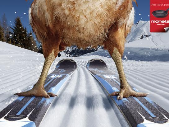 Moneta Print Ad -  Ski