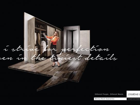 Creative Closets Print Ad -  Money Back Guarantee