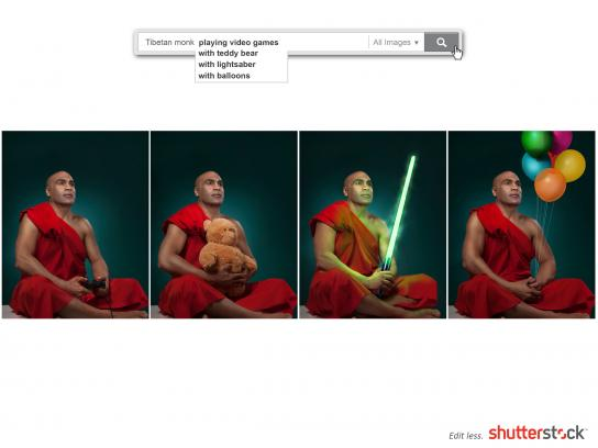 Shutterstock Print Ad -  Monk