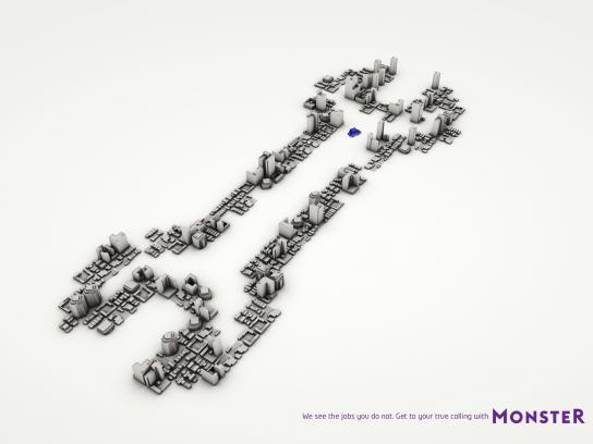 Monster Print Ad -  Spanner