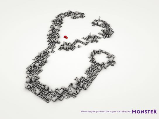 Monster Print Ad -  Stethoscope