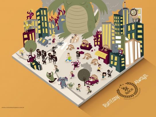 Ápice Print Ad -  Monsters