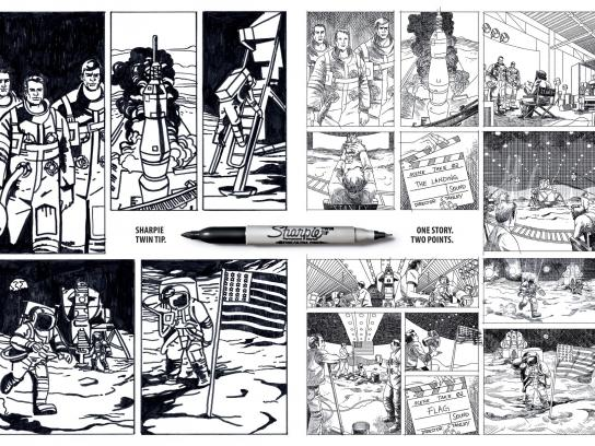 Sharpie Print Ad -  Moon