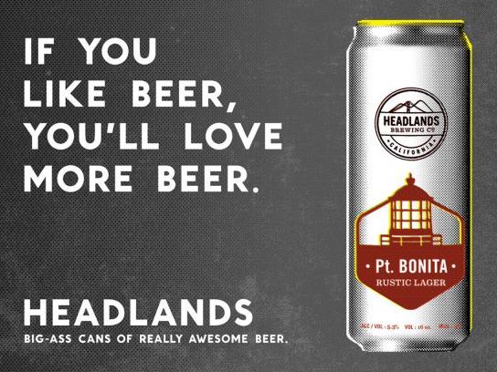 Headlands Print Ad -  More beer