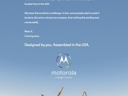 Google Print Ad -  Designed by you. Assembled in the USA.