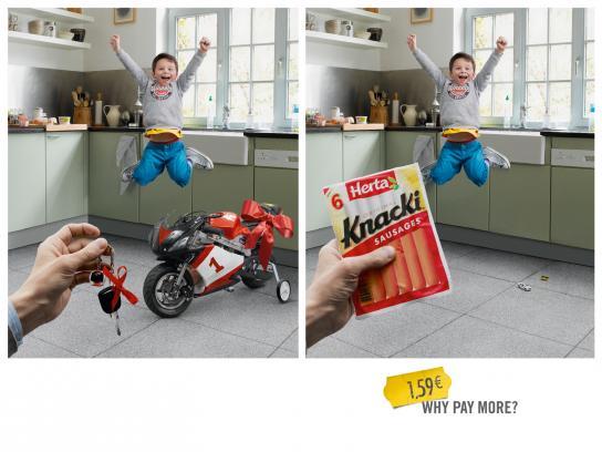 Knacki Outdoor Ad -  Motorbike