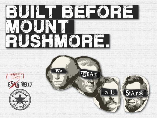 Converse Print Ad - Mount Rushmore