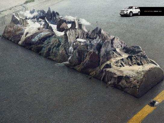 Opel Print Ad -  Mountain