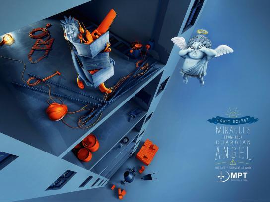 Ministério Público do Trabalho Print Ad -  Guardian angel, 2