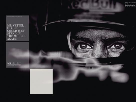 Red Bull Print Ad -  Mr Vettel