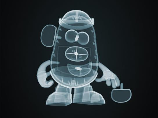 Disney Print Ad - X-Ray Story - Mr Potato Head