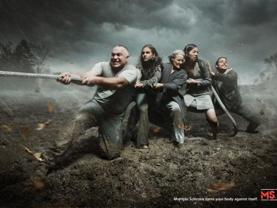 MS Society Print Ad -  Tug of War
