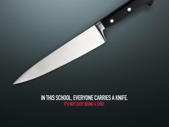 MSA Culinary Arts Academy Print Ad -  Knife
