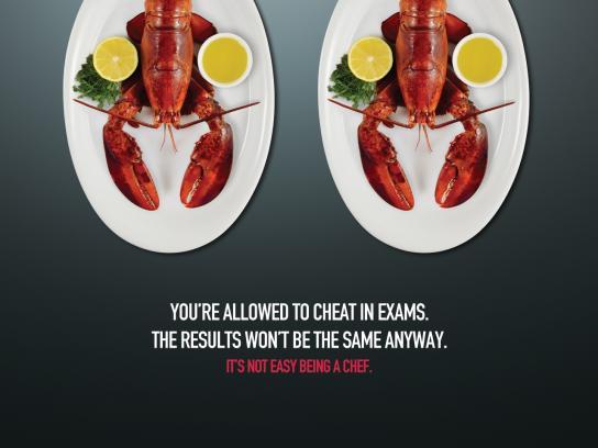 MSA Culinary Arts Academy Print Ad -  Lobster