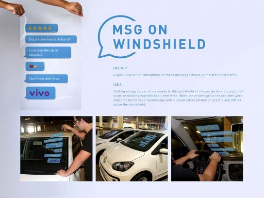 Vivo Direct Ad - Msg on windshield
