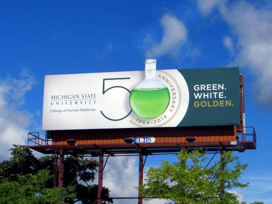 Michigan State University Outdoor Ad -  50th Anniversary, 2