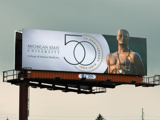 Michigan State University Outdoor Ad -  50th Anniversary, 3