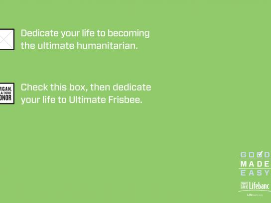 Lifebanc Outdoor Ad -  Ultimate