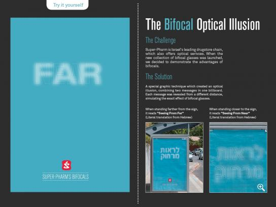 Super-Pharm Outdoor Ad -  The Bifocal Optical Illusion