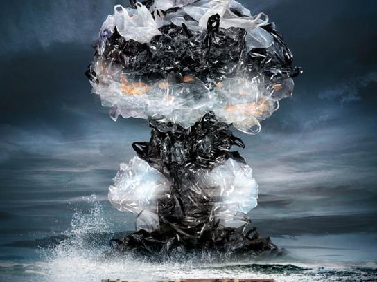 Surfers Against Sewage Print Ad - Mushroom Cloud