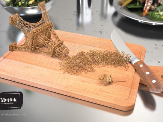 Mutfak Brasserie Print Ad -  World cuisine, Paris