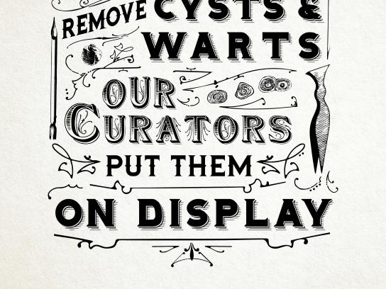 Mutter Museum Print Ad - Cysts and Warts