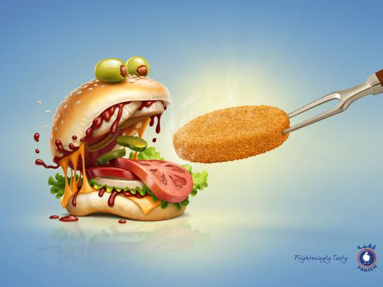 Fakieh Chicken Print Ad - Monster burger