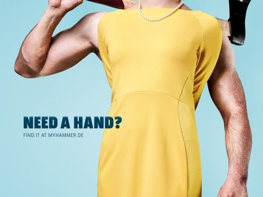 MyHammer Print Ad -  Need A Hand?, 1