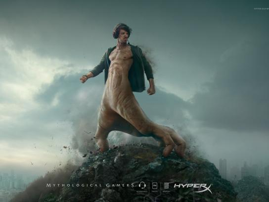 HyperX Print Ad -  Mythological Gamers, 2