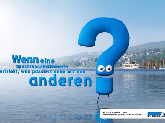 Neue Aargauer Bank Print Ad -  Swimmer