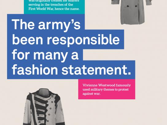 National Army Museum Print Ad - Fashion Statement