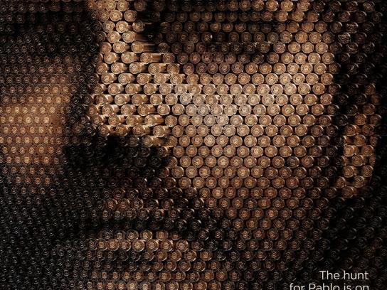 Netflix Outdoor Ad - Narcos Season 2, Bullet Face