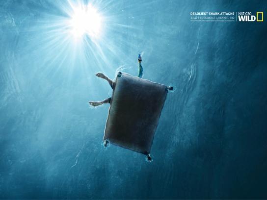 National Geographic Print Ad -  Deadliest shark attacks, 2