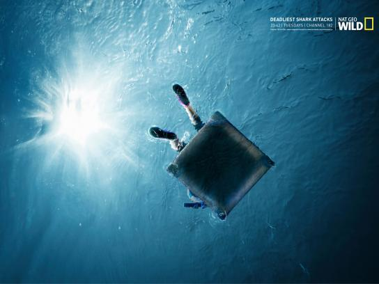 National Geographic Print Ad -  Deadliest shark attacks, 3