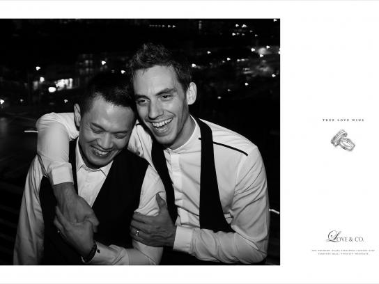 Love & Co. Print Ad -  True love wins, Nathan & Jesse