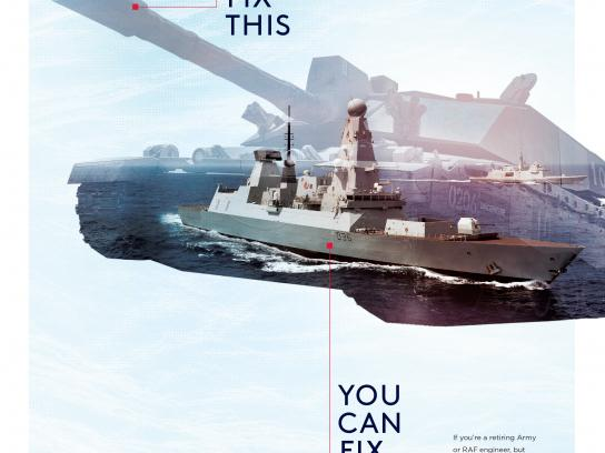 Royal Navy & Royal Marines Print Ad - If you can