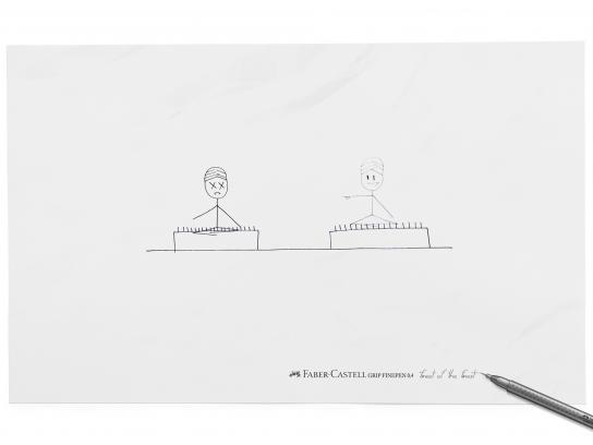 Faber-Castell Print Ad -  Needles
