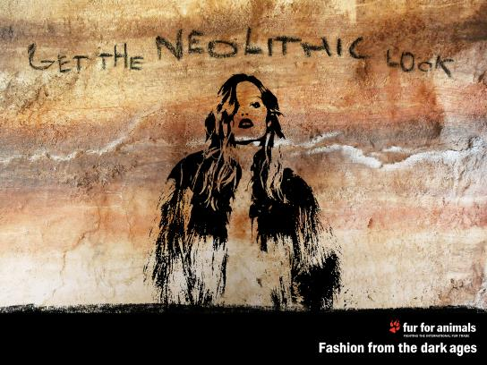 Fur for Animals Print Ad - Neolithic Look