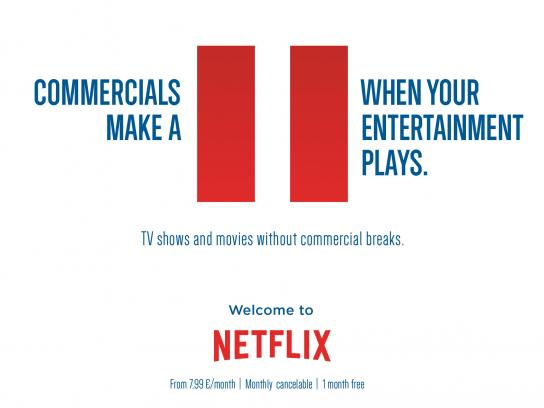 Netflix Print Ad -  Pause