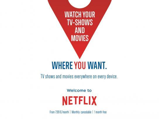 Netflix Print Ad -  Wherever